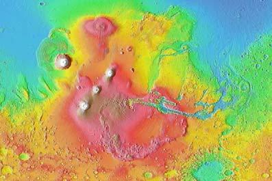 Shaded relief image from MOLA produced for Sky and Telescope