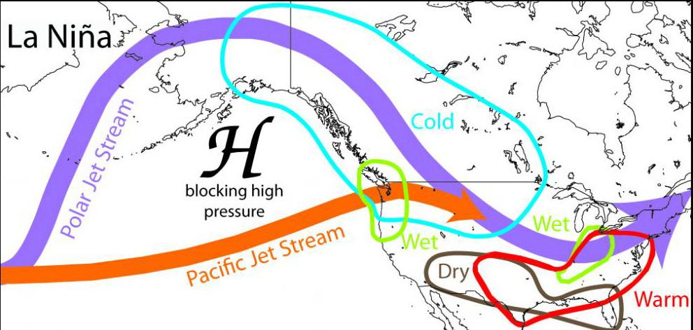 moisture-filled air to be picked up in the Pacific Jet Stream 4 and carried across the southern U.S. and northern Mexico. This creates conditions that are supportive of cool, wet winters (Figure 4).