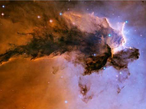 Stars emerging from dark eagle nebula Rosette Nebula Protostars When there is enough material close (within 15 trillion km) together, gravity
