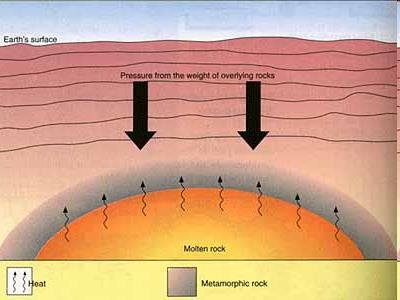 If sedimentary rocks are buried deep underneath the Earth s surface, they will be exposed to high