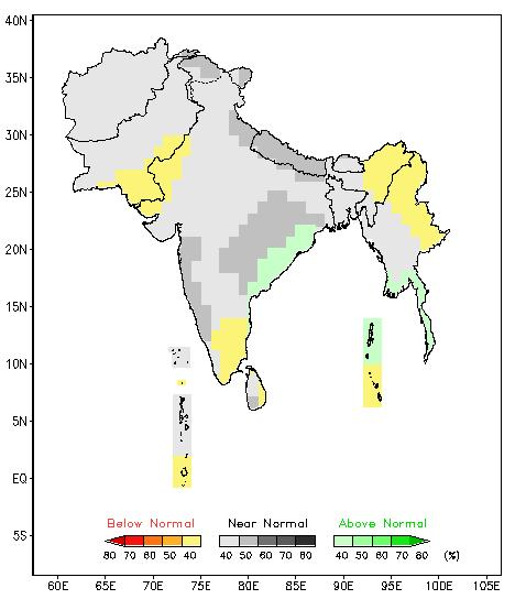 The outlook for the southwest monsoon rainfall over South Asia is shown in Fig. 1.