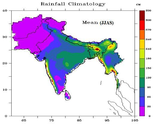 Fig.4 Rainfall Climatology for th-mail. e period 1951-2007 over South Asia (Source: APHRODITE s Water ResourcesHome page, http://www.chiku.ac.jp/precip/english/index.