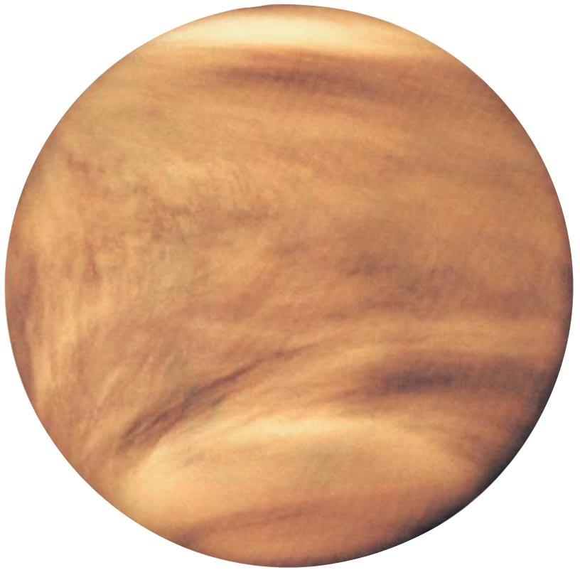 Atmosphere of Venus Reflective clouds contain droplets of sulfuric