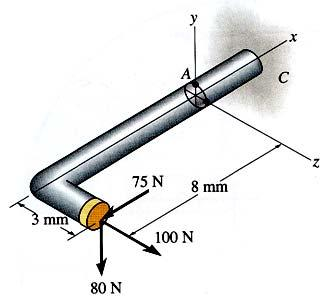 -7- Figure Q4 [b] Rajah S4 [b] (60 marks/markah) Q5. [a] Figure Q5 [a] shows a 50mm-diameter solid shaft subjected to a torque of 45 N.