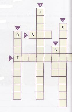 4.-Read the clues. Complete the crossword about worms. ACROSS 1-The... is a worm that can live inside the human body. 2- Some worms live in the.