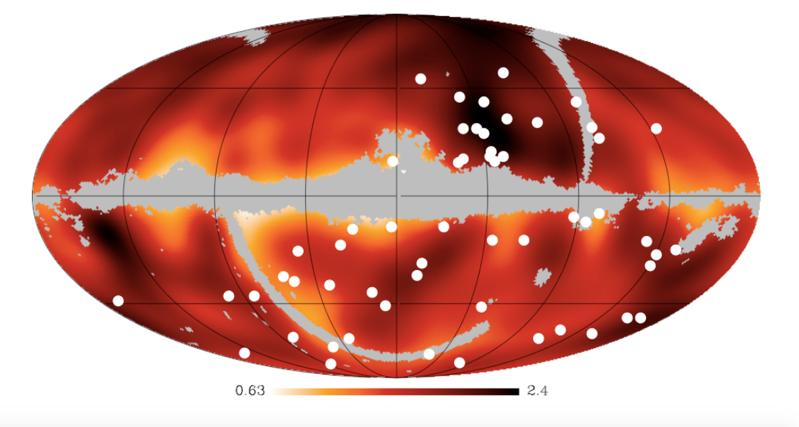 Magnetic fields causing the lack of astrophysical counterparts?