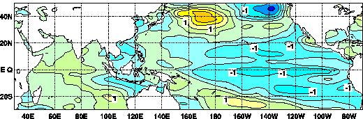 central-eastern tropical Pacific.