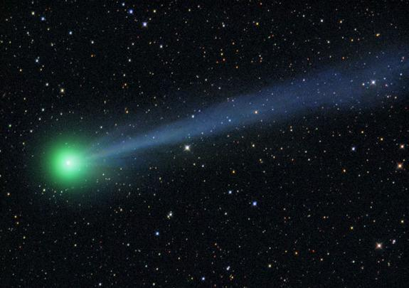Comet: a chunk of ice or dust that