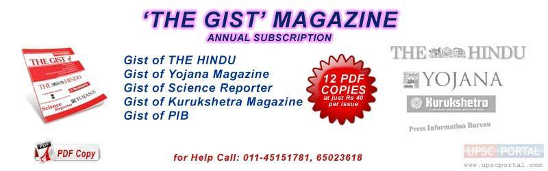 COM File Type: PDF File Only (No Hard Copy) TOPICS OF THE GIST Gist of The Hindu Gist of