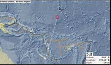 a magnitude of 5.2. Location: 0.63 S long: 168.13 E, Depth is 200km A 5.2 MAGNITUDE earthquake was detected again in the Kiribati region on the 13 th of September 2017 A 4.