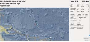Exact location of event, longitude - 169.447 West, latitude -4.4721 South, depth = 10 km.