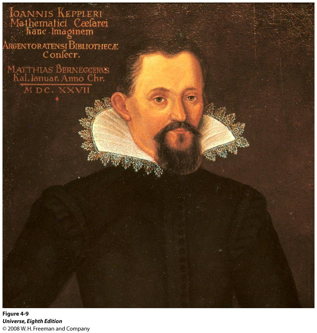 Johannes Kepler (1571 1630) By analyzing Tycho Brahe s detailed records of planetary positions, Kepler developed three general principles, called