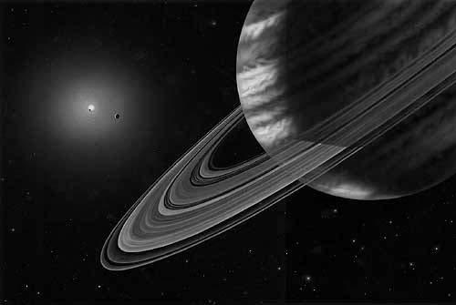 Artist s conception of the view from the outmost planet of three in Upsilon