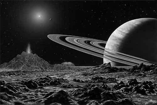 Artist s conception of 47 U ma view from Moon of the Second Planet