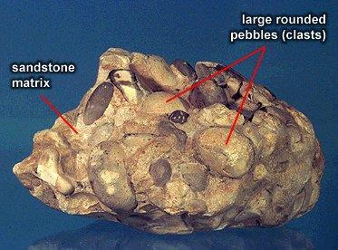3. Clastic Sedimentary Rock - Formed from fragments of rock