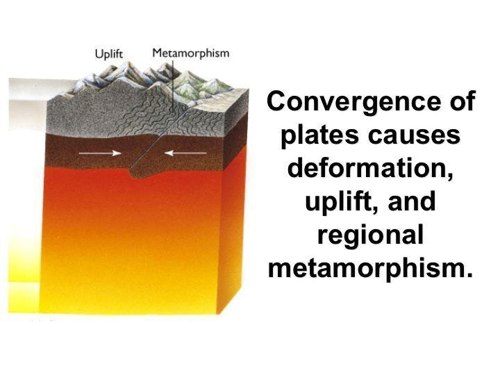 2. Regional Metamorphism - Occurs over a large