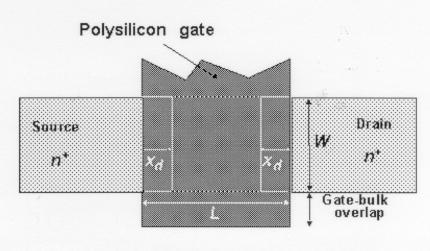 The Gate Capacitance C gdo Lateral diffusion
