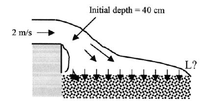 Determine the force acting on the shaft in the axial direction. Density of water is 1000 kg/m 3.