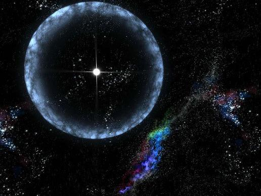 Neutron Stars After explosion, nova may contract into small but DENSE ball of neutrons - neutron star