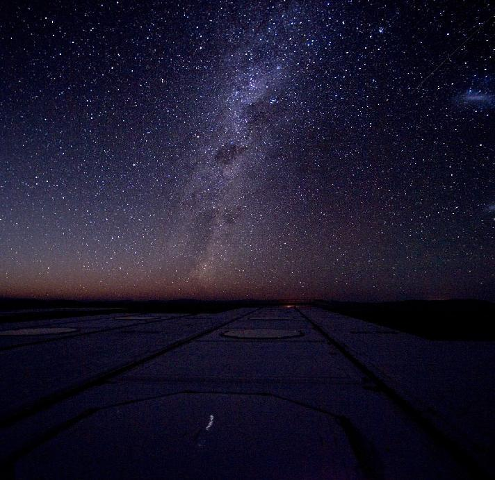 Look at night sky you see band of stars across the sky Called Milky Way because