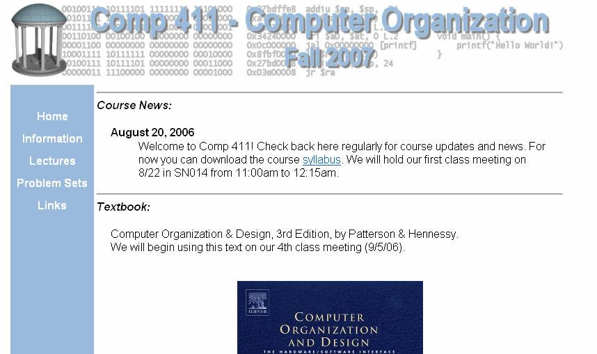 Comp 4: Course Website Announcements, corrections, etc.