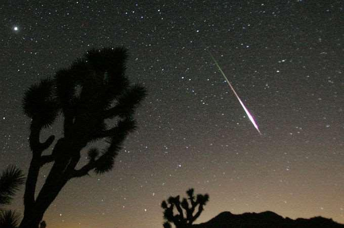 Meteors A small rocky or metallic object traveling through space.