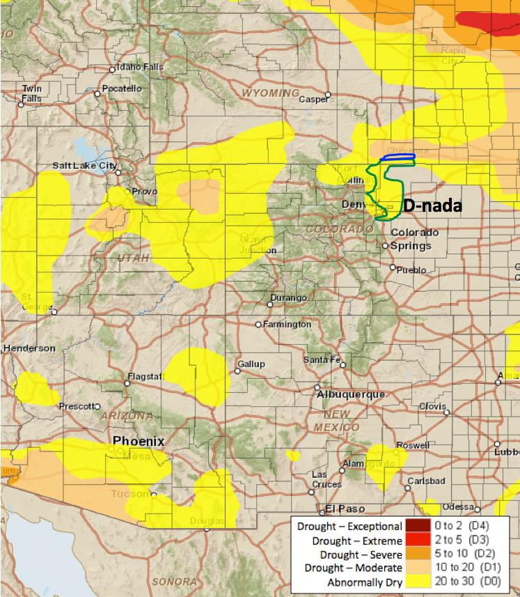 NIDIS Drought and Water Assessment Summary: August 8, 2017 While most of the Upper Colorado River Basin missed out on moisture this past week, widespread precipitation fell throughout eastern