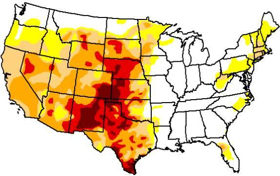 Current Drought Situation May 6, 2014 Drought Monitor May 7, 2013 Drought Monitor Drought continues to worsen