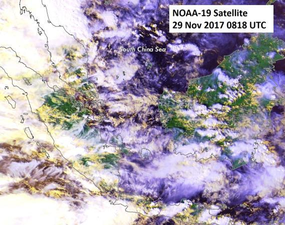 pressure system off the southern coast of Java.