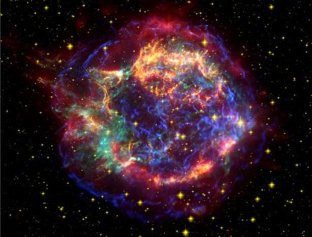 Cassiopeia A: A Young Shell type Supernova Remnant 8 Youngest known supernova remnant in our galaxy (First record in 1680) Cas A (X ray Image) CHANDRA picture (NASA)