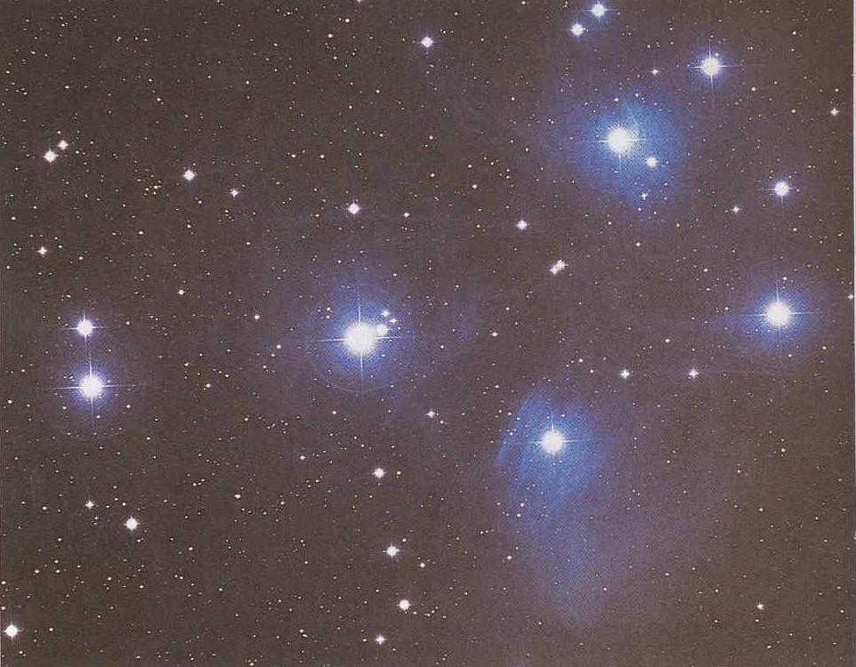Reflection nebulae The Pleiades Cluster of new stars Visible to unaided eye in western Taurus Stars form in clusters most of which slowly spread apart.