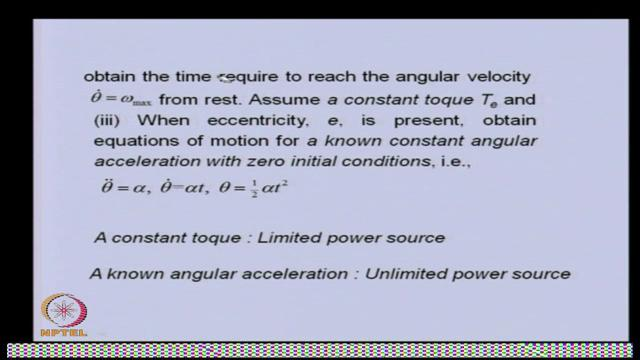 (Refer Slide Time: 31:56) This what will be the basically, time required to reach the angular velocity.