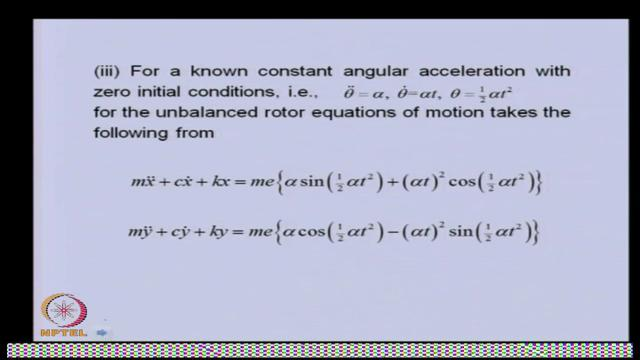 (Refer Slide Time: 39:38) The next is, now for the know constant acceleration, with these initial conditions.