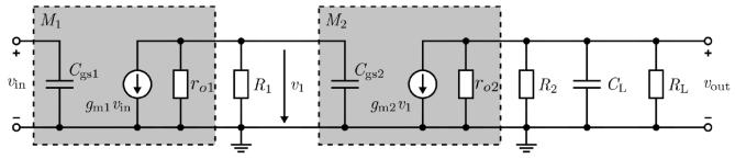 voltage across pn-junctions between BJTs can be represented by a parasitic capacitance Stage : Stage : C C large, shorts, C gd often negligible Differential amplifier: In order to filter out