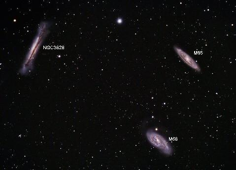 The Leo Triplet M65, M66 and NGC 3628 Messier 66 is also known as NGC 3627.