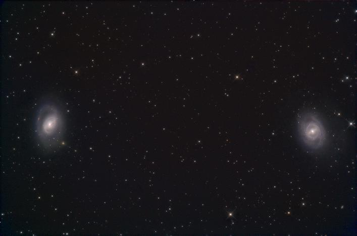 There is another beautiful pair of galaxies M95 and M96 further to the west (right) of M65 and