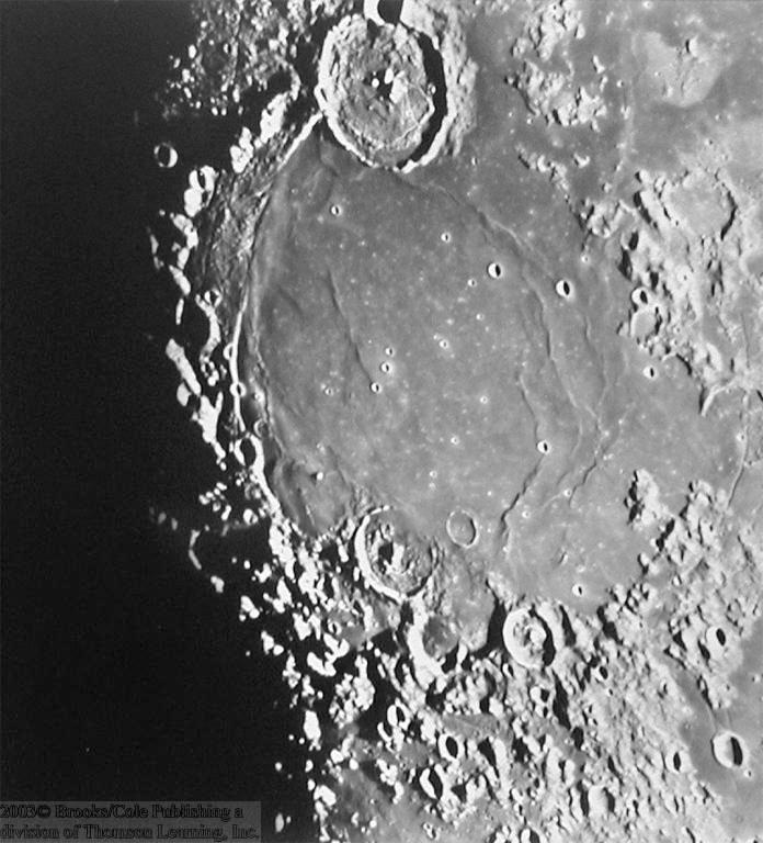 moon; first estimates of the