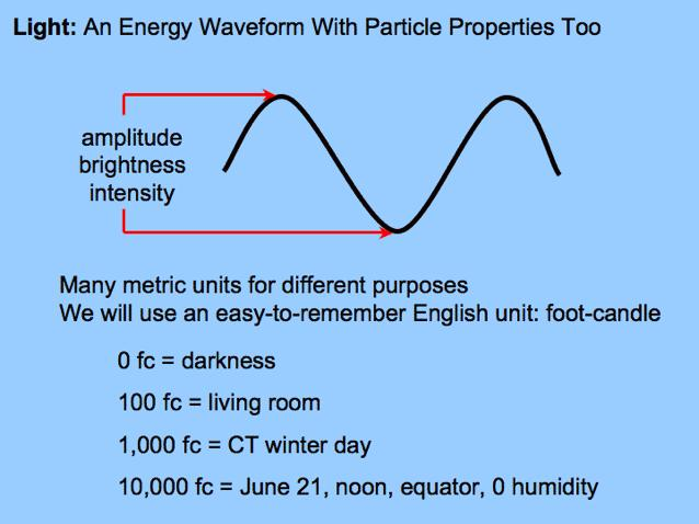Intensities waves not only vary in wavelength but they can vary in amplitude as well.