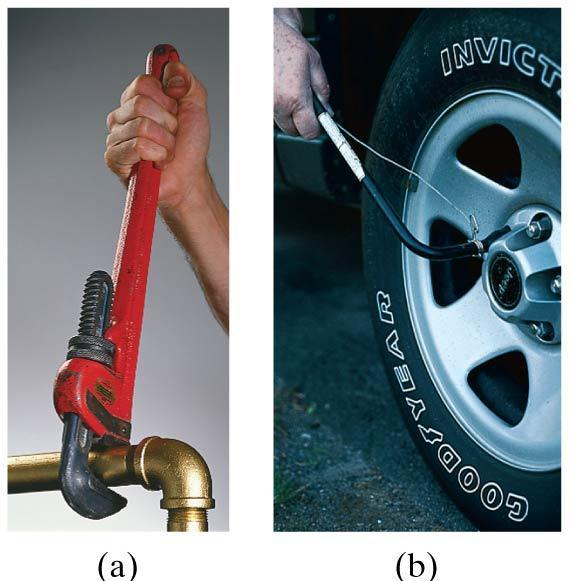 8-4 Torque To make an object start rotating, a force is needed; the position and direction of the force matter as well.
