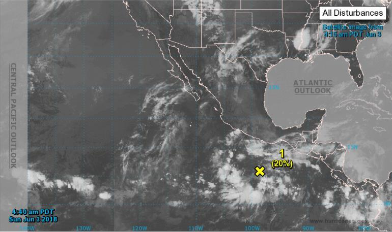 Tropical Outlook Eastern Pacific Disturbance 1 (as of 8:00 am EDT) A large area of disorganized showers and