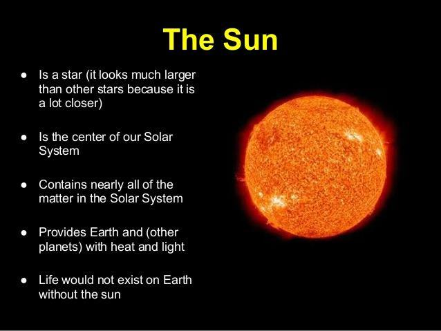 The Sun is a mediumsized star near the edge of a disc-shaped galaxy of stars The Sun is many thousands of times closer to