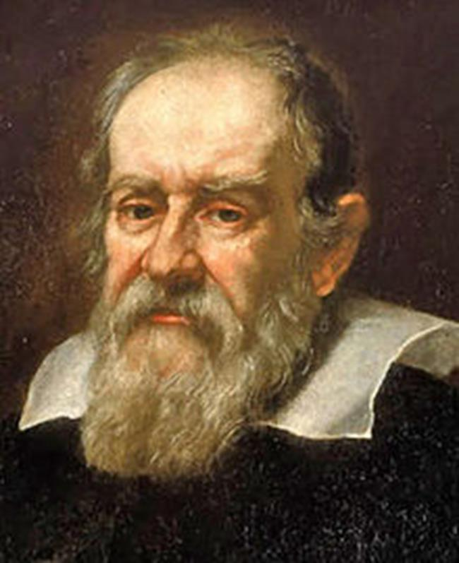 Galileo Galilei (1564 1642) uses a Dutch made telescope for a detailed