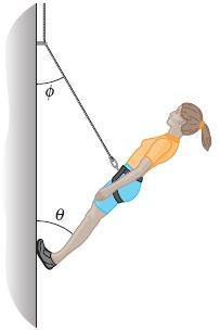 25. In the figure, a climber with a weight of 533.