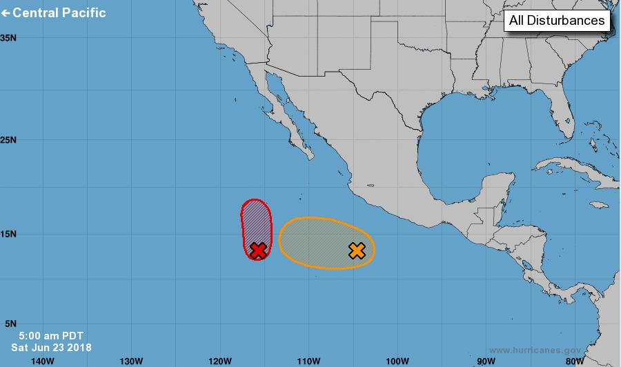 Tropical Outlook Eastern Pacific Disturbance 1 (as of 8:00 am EDT) Several hundred miles SW of Acapulco, Mexico Moving W to WNW at 5 to 10 mph, away from the coast Formation chance through 48 hours: