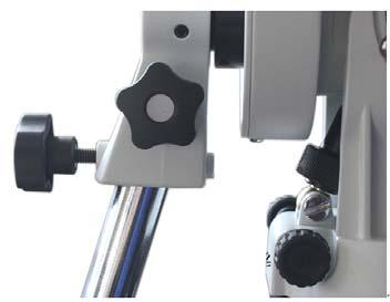 Install Counterweight: With CW shaft points to ground, remove CW Safety Cap at the end. With the CW wider opening towards the shaft end, guide CW through the shaft.