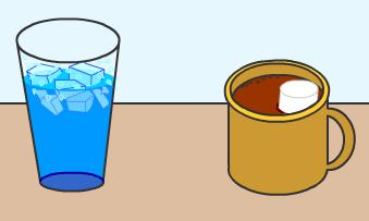 Heat Section 2 Now what do you think? Does the ice water or an equal quantity of hot chocolate have greater internal energy? Why?