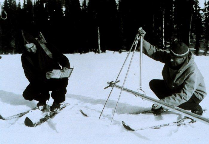 Snow surveys began in the 1930s to help