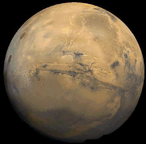 Mars Like Earth, Mars has ice caps at its poles. Mars has the largest volcano in our solar system: Olympus Mons.