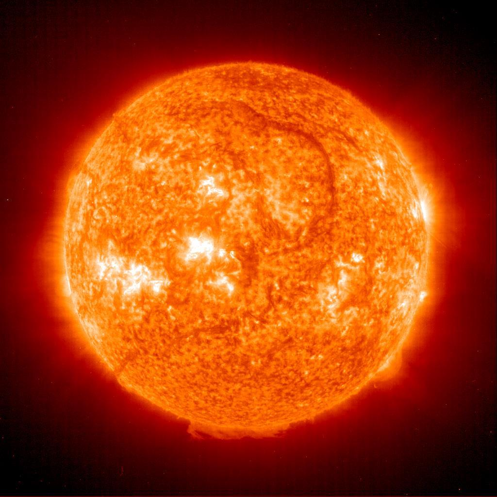 The Sun The sun s energy comes from nuclear fusion (where hydrogen is converted to helium) within its core. This energy is released from the sun in the form of heat and light.