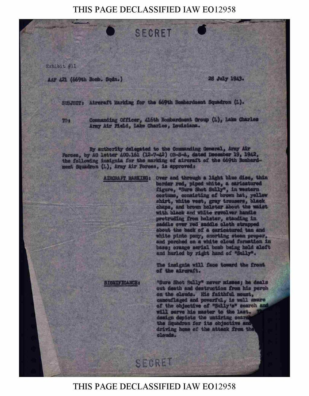 THIS PAGE DECLASSIFIED IAW EO 2958 Y =